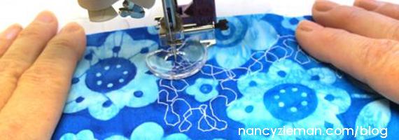 Free Motion Quilting Presser Foot | Nancy Zieman | Textured Fabric