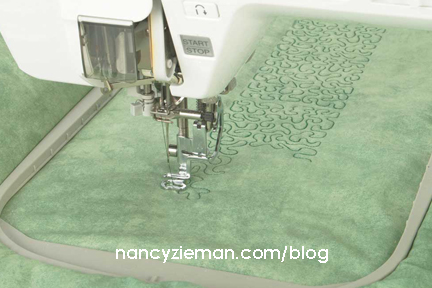 Creative Quilting Outlines...Charming Poinsettias   Nancy Zieman ... : machine quilting hoop - Adamdwight.com