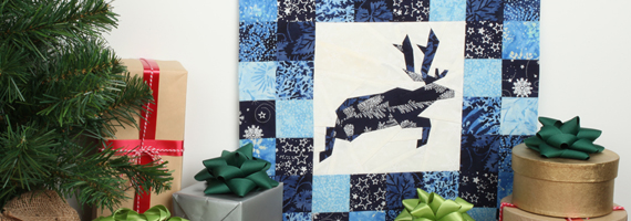 Foundation-Piece a Festive Reindeer Block | Nancy Zieman | Nancy's Notions Guest Blog