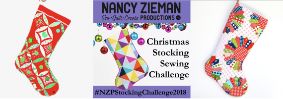 2018 Christmas Stocking Sewing Challenge Blog Badge