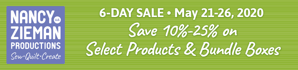 Save 10%-25% Off Select Sewing Tools, Sewing Kits, and Quilting Bundle Boxes May 21-26, 2020 at ShopNZP.com