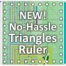 NEW! No-Hassle Triangles Half-Square and Quarter Square Quitling Ruler available at ShopNZP.com